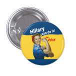 Hillary Can Do It 2016 3 Cm Round Badge