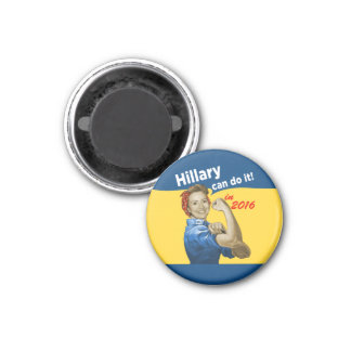 Hillary Can Do It 2016 3 Cm Round Magnet