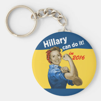 Hillary Can Do It 2016 Basic Round Button Key Ring