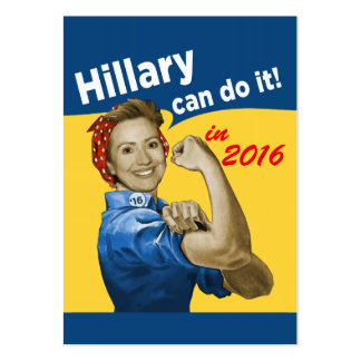 HIllary Can Do It Pack Of Chubby Business Cards