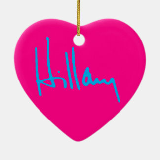 """HILLARY"" CERAMIC ORNAMENT"