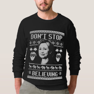 Hillary Christmas - Don't Stop Believing - white - Sweatshirt