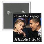Hillary Clinton 2016 15 Cm Square Badge