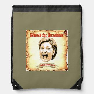 Hillary Clinton 2016 back pack. Drawstring Bag