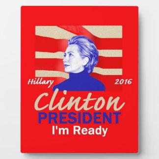 Hillary Clinton 2016 Display Plaque