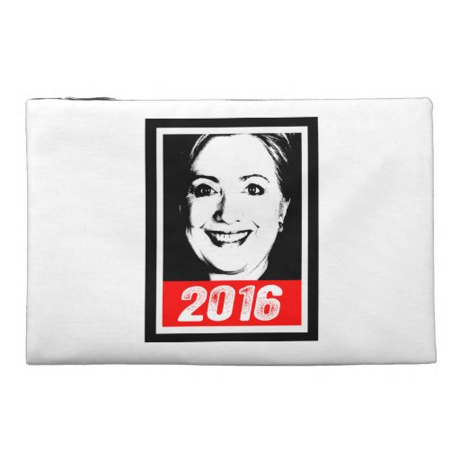 HILLARY CLINTON 2016 INK ART TRAVEL ACCESSORY BAGS