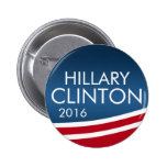 Hillary Clinton 2016 Modern Swoop Design 6 Cm Round Badge