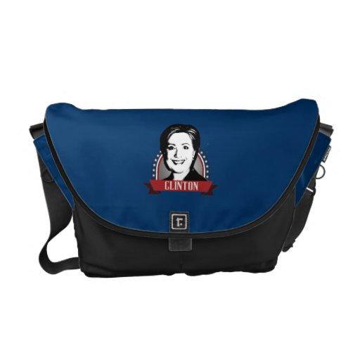 HILLARY CLINTON 2016 NAMEPLATE MESSENGER BAGS