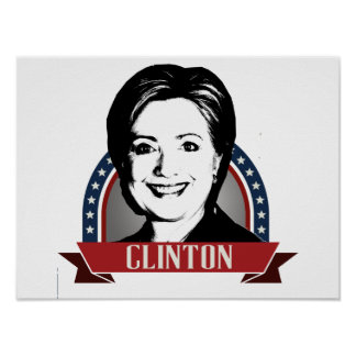 HILLARY CLINTON 2016 NAMEPLATE -.png Print