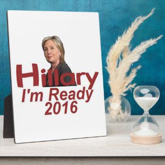 Hillary Clinton 2016 Photo Plaques