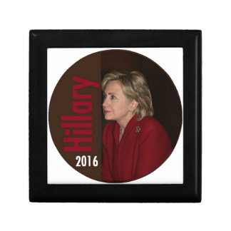 Hillary Clinton 2016 Small Square Gift Box