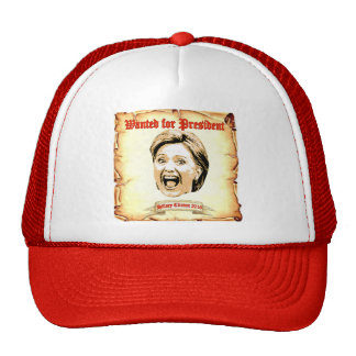Hillary Clinton 2016 wanted for president  hat. Cap
