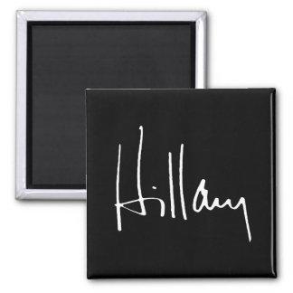 HILLARY CLINTON AUTOGRAPH -.png Square Magnet