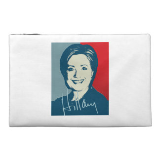HILLARY CLINTON AUTOGRAPHED SIGN TRAVEL ACCESSORIES BAG