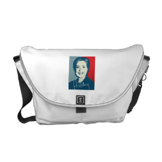 HILLARY CLINTON AUTOGRAPHED SIGN MESSENGER BAGS