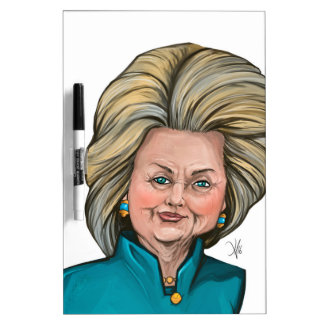 Hillary Clinton Caricature Dry Erase Board