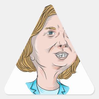 Hillary Clinton Caricature Triangle Sticker