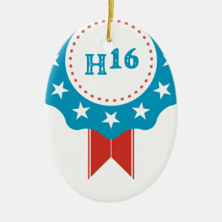 Hillary Clinton Ceramic Oval Decoration