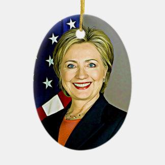 Hillary Clinton Digital Pop Art Christmas Ornament