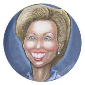 Hillary Clinton Dinner Plate