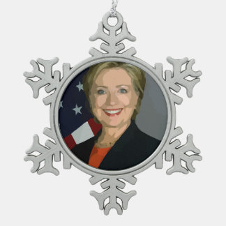 Hillary Clinton election 2016 Pewter Ornament