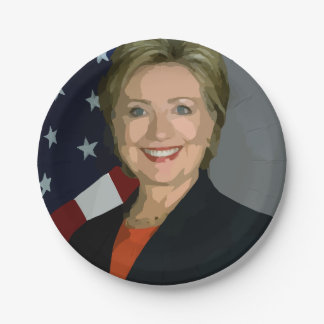 """Hillary Clinton election 2016 Plates 7"""" 7 Inch Paper Plate"""
