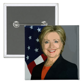 Hillary Clinton Election 2016 Square Button