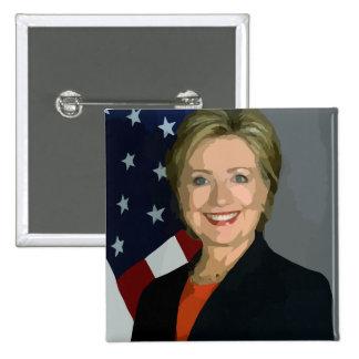 Hillary Clinton Election 2016 Square Button