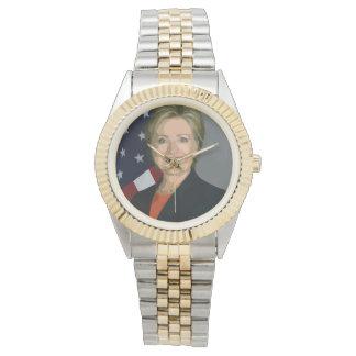 Hillary Clinton election 2016 Two-Tone Bracelet Wristwatches