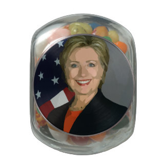 Hillary Clinton election 2016 with Assorted Jelly Glass Candy Jar