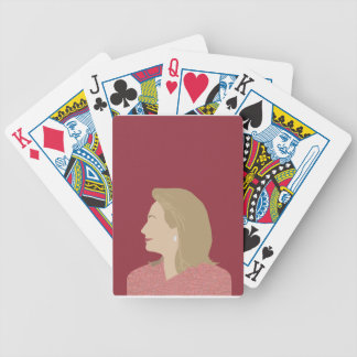 Hillary Clinton Feminist Bicycle Playing Cards