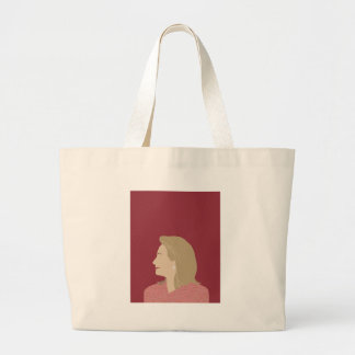 Hillary Clinton Feminist Large Tote Bag
