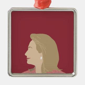 Hillary Clinton Feminist Metal Ornament