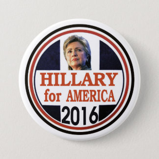 Hillary Clinton For America 2016 7.5 Cm Round Badge