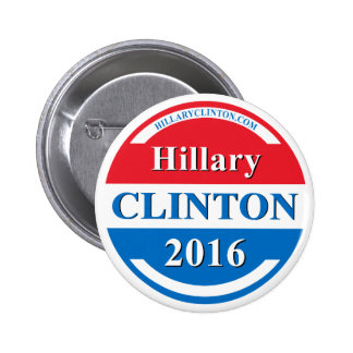 Hillary Clinton for President 2016 6 Cm Round Badge