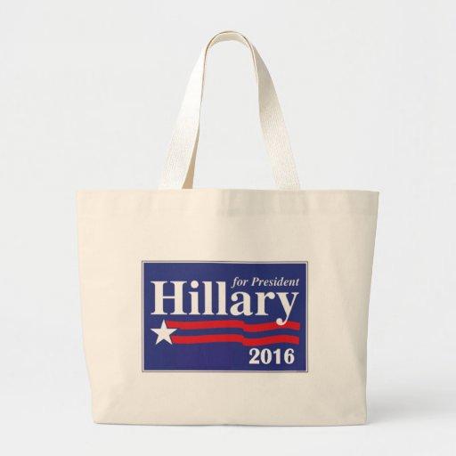 Hillary Clinton for President 2016 Canvas Bags