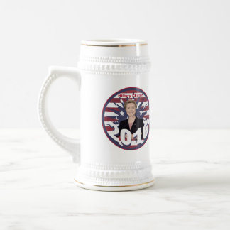 Hillary Clinton for President 2016 Beer Stein