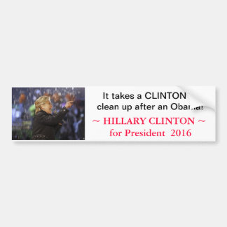 Hillary Clinton for President 2016 - bumpersticker Bumper Sticker