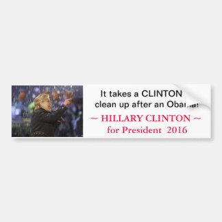 Hillary Clinton for President 2016 - bumpersticker Car Bumper Sticker