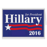 Hillary Clinton for President 2016 Greeting Cards