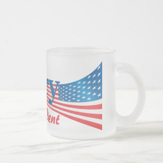 Hillary Clinton For President Frosted Glass Mug