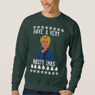 Hillary Clinton Have a very nasty xmas sweater