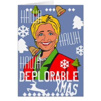 Hillary Clinton Hawh Hawh Deplorable Xmas card 2