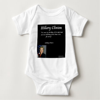 "Hillary Clinton ""Individuals"" Quote Baby Bodysuit"