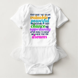 Hillary Clinton Inspirational Dreams Quote Baby Bodysuit