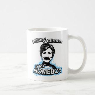 Hillary Clinton is my homeboy Basic White Mug