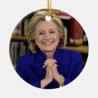 Hillary Clinton It Takes A Village Gift Round Ceramic Decoration