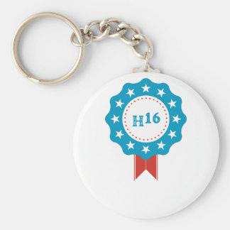 Hillary Clinton Basic Round Button Key Ring
