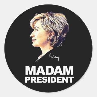 "Hillary Clinton ""Madam President"" Sticker"