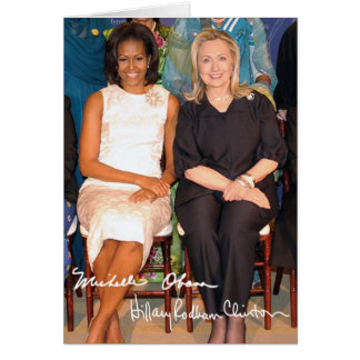 Hillary Clinton & Michele Obama Greeting Card